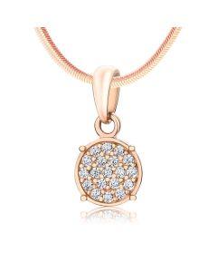Золотий кулон з розсипом діамантів «Amulet»
