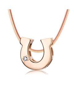 Золотий кулон підкова з діамантом «Lucky»