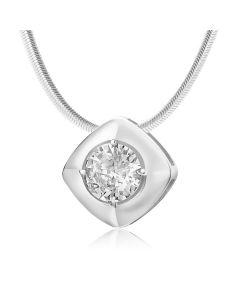 Золотой кулон с бриллиантом 0,27 Ct «Paradise droplet»
