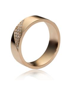 Обручальное кольцо с цирконием «New life»