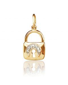 Золотой кулон «Замочек»