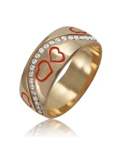 Золота обручка «Любов у серці»