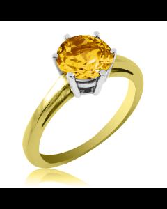 Перстень золотий з цитрином «VIVA»