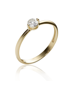 Золотое кольцо с бриллиантом «В Париже»