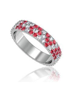 Золотое обручальное кольцо с бриллиантами «LOVE»