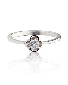 Золотое кольцо с бриллиантом «Романтика»