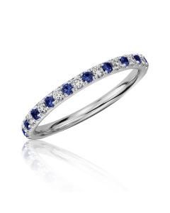 Золотое кольцо с сапфирами и цирконием «Сaroline»