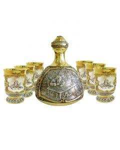 Набір графин і чарки «Єврейський»