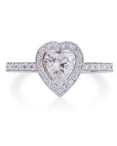 Ексклюзивна каблучка на заручини «Діамантове серце»