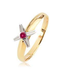 Золотое помолвочное кольцо с рубином «Теят»
