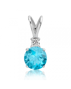 Золотий кулон з топазом та діамантом «Adeline»