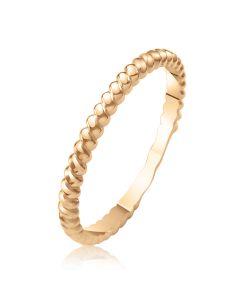 Золотое фаланговое кольцо без камней «French»