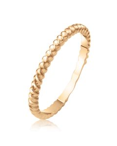 Золота фалангова каблучка без каменів «French»