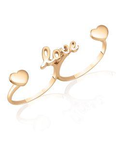 Золотое кольцо на два пальца