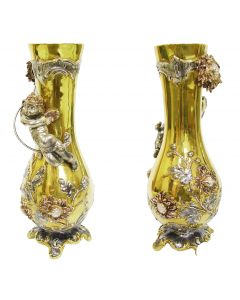 Срібна ваза «Хризантема»