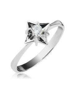 Золотое кольцо с одним бриллиантом «Дейзи»