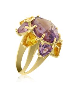 Золоте кільце з аметистом «Нумідія»
