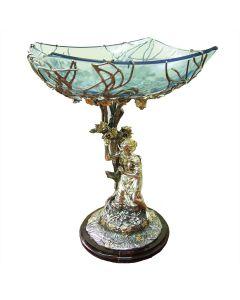 Срібна ваза «Райський виноград»