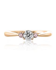 Золотий заручальний перстень з цирконієм  «Biagio»