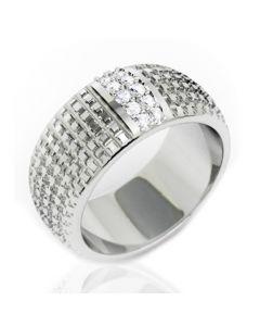 Золота обручка з діамантами «Sara»