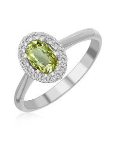Золотое кольцо с бериллом «Verdant delight»