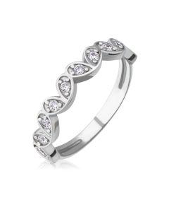 Золотое кольцо c бриллиантами «Petals»