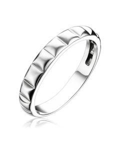 Золотое кольцо без камней «Tessera»