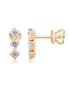 Золоті сережки з діамантами «Splendor»