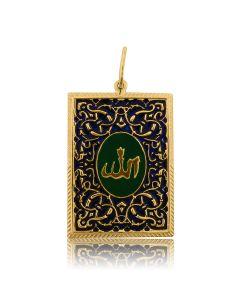 """Золотой кулон с эмалью """"Коран"""""""
