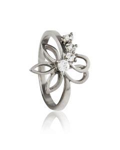 """Золотое кольцо с цирконом """"Лилия-II"""""""
