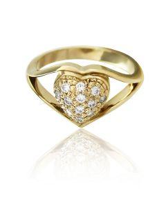"""Золотое кольцо с бриллиантом """"Наша помолвка-I"""""""