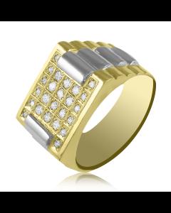 """Золотой мужской перстень """"Ланселот"""""""
