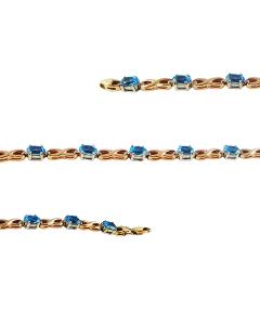 Золотой браслет с овальными топазами «Аманда»