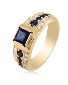 Золотий перстень з сапфіром «Alexis»