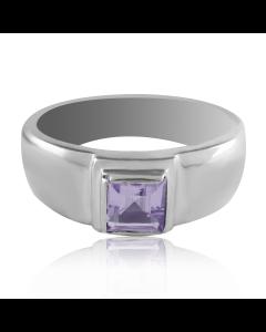 Золотое мужское кольцо с аметистом «Хранитель»