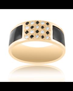 Золотое кольцо с кожей