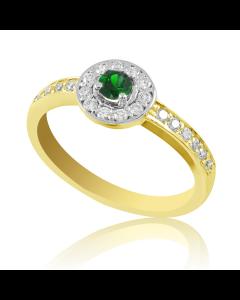 Кільце зі смарагдом і діамантами «Гіза»