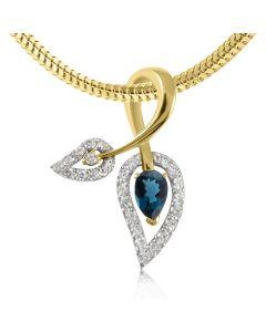 Золотой кулон с топазами «Эликсир любви»