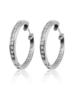 Золоті сережки кільця з діамантами «Міс Конго»