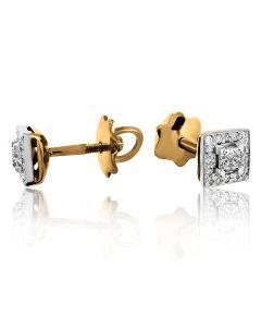 """Золотые серьги с бриллиантами """"Pret-a-porte"""""""