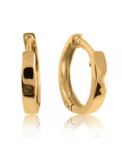 Золотые круглые серьги «Кольцо в ухо»