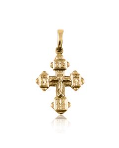 Золотой крестик с распятием маленький