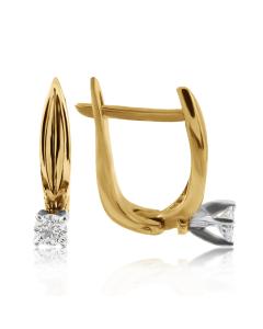 Золотые серьги с бриллиантами 0,22 Ct «Маргарет»