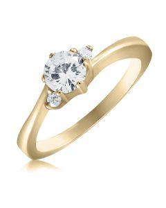 Кольцо золотое с цирконием «Алина»
