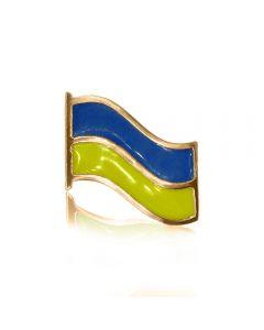 Значок золотой с «Флаг Украины»