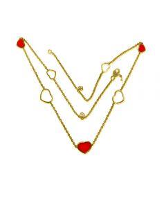 Золотое колье с сердечками «Style Love»