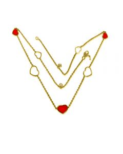 Золоте кольє з сердечками «Style Love»