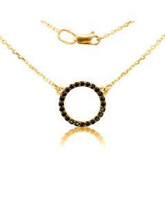 Золоте кольє на ланцюжку «Кольцо»