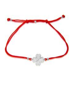 Золотой браслет шамбала «Четырехлистник»
