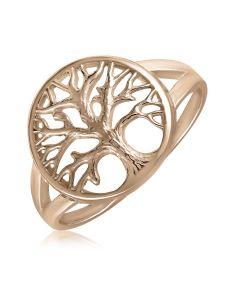 Кольцо золотое без камней «Дерево жизни»